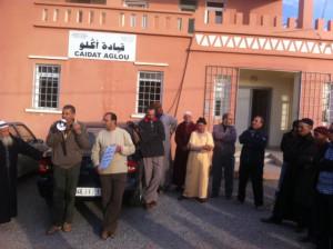 """جريدة المساء : وقفة احتجاجية ضد الأوضاع الأمنية بجماعة """"أكلو"""" بتيزنيت"""