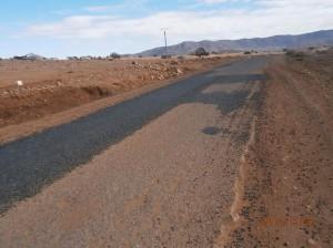 ترقيع الطريق الرابط بين تيوغزة و سيدي افني يبخر آمال السائقين و الساكنة