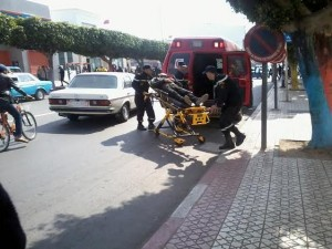 رجل يسقط مغشيا عليه بوكالة بنكية بإنزكان