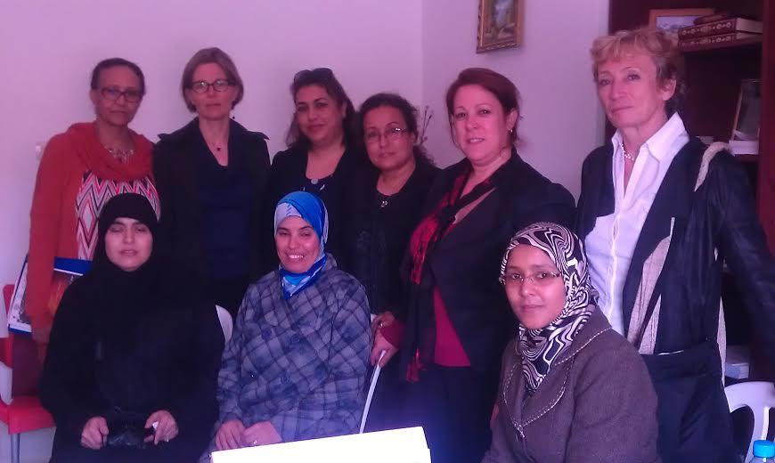 جمعية إنصاف للمرأة والطفل والأسرة تستقبل وفدا من خبراء الاتحاد الأوروبي
