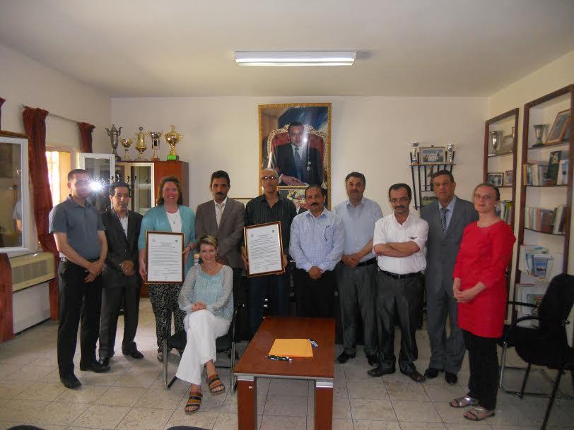النائب الإقليمي يشرف على توقيع بروتوكول توأمة بين إعدادية رسموكة وإعدادية Babelsberg بألمانيا