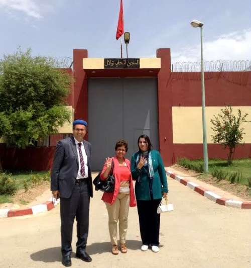 بن الشيخ والراخا وتباعمرانت في زيارة لمعتقلي القضية الأمازيغية