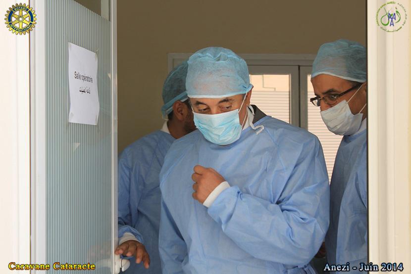 حول الحملة الطبية لإزالة جلالة وتوزيع نظارات صحية بمركز أنزي