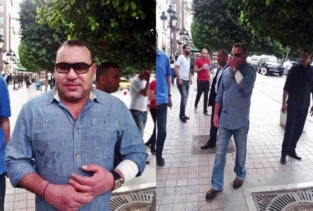 رسائل ملك يتجول في شوارع تونس