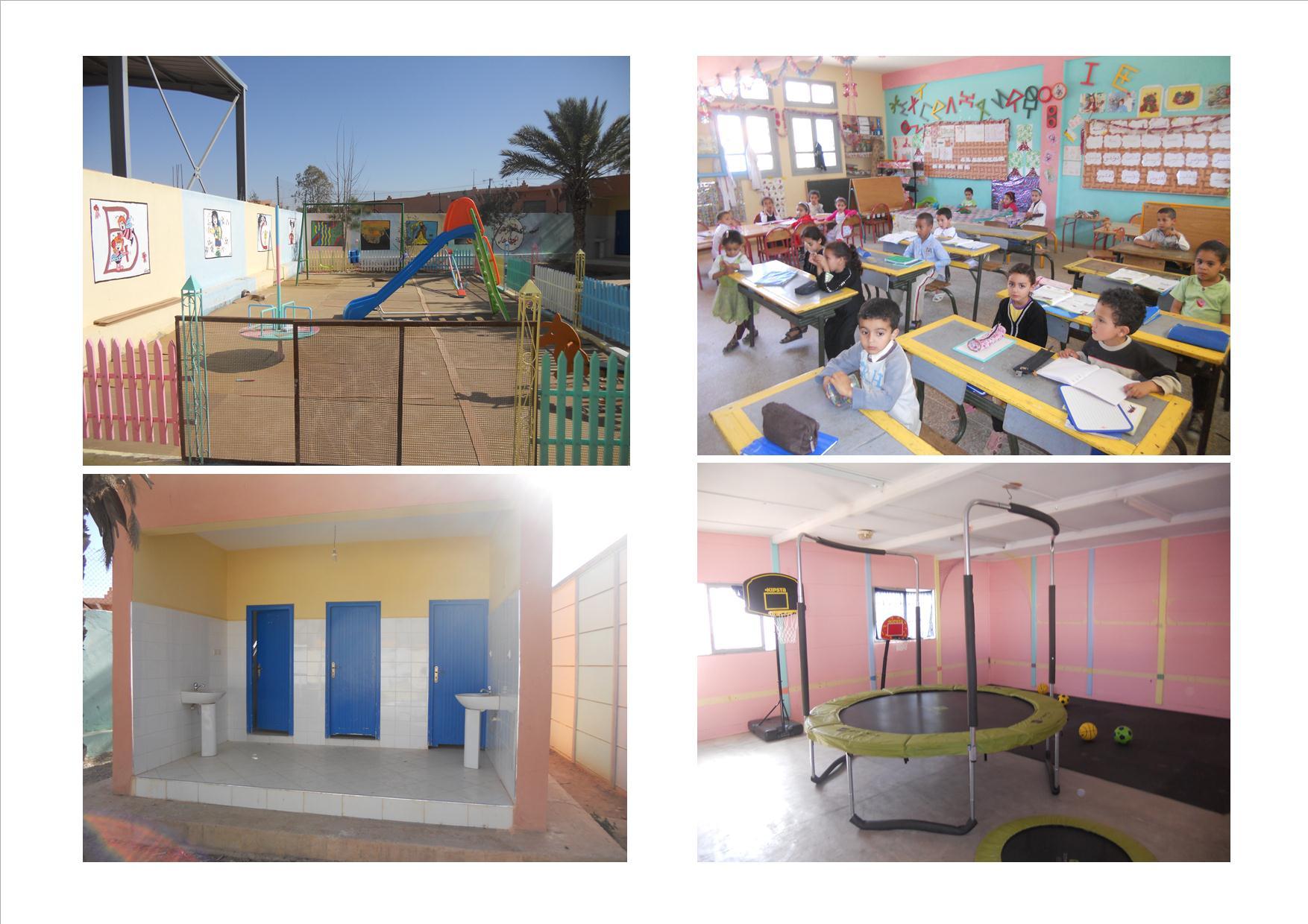 روض نموذجي للتعليم الاولي في طور الانجاز بجماعة رسموكة اقليم تيزنيت