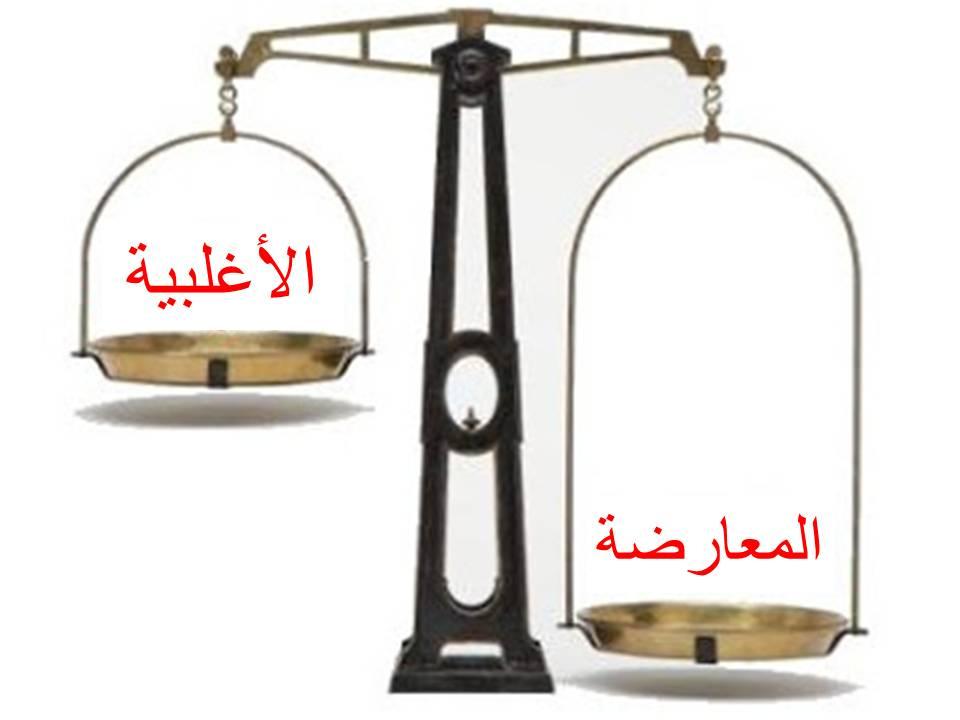 مقارنة  بين أحزاب الأغلبية والمعارضة