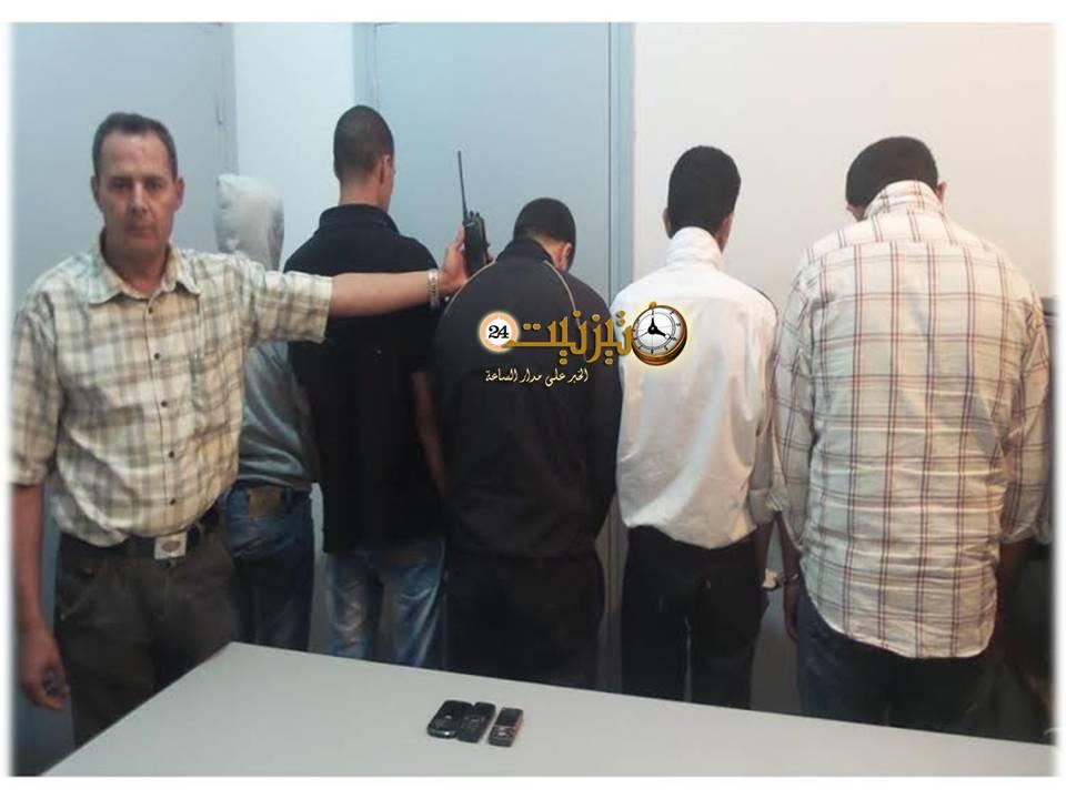صور عصابة الأمن الخاص في قبضة الأمن بتيزنيت