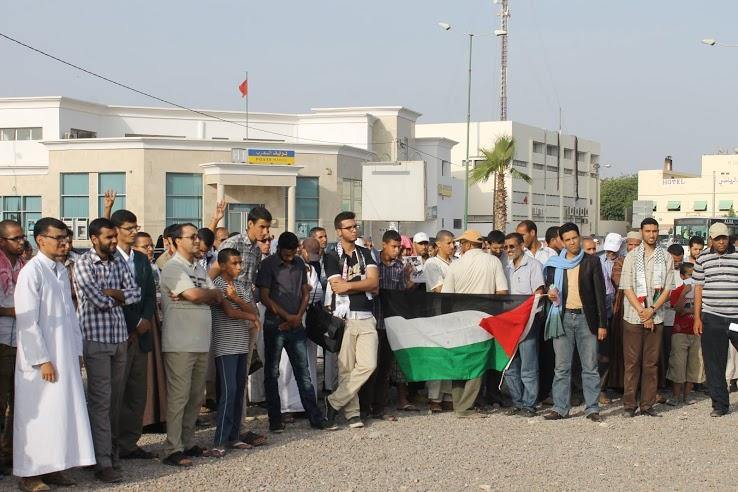وقفة تضامنية مع غزة في مدينة إنزكان