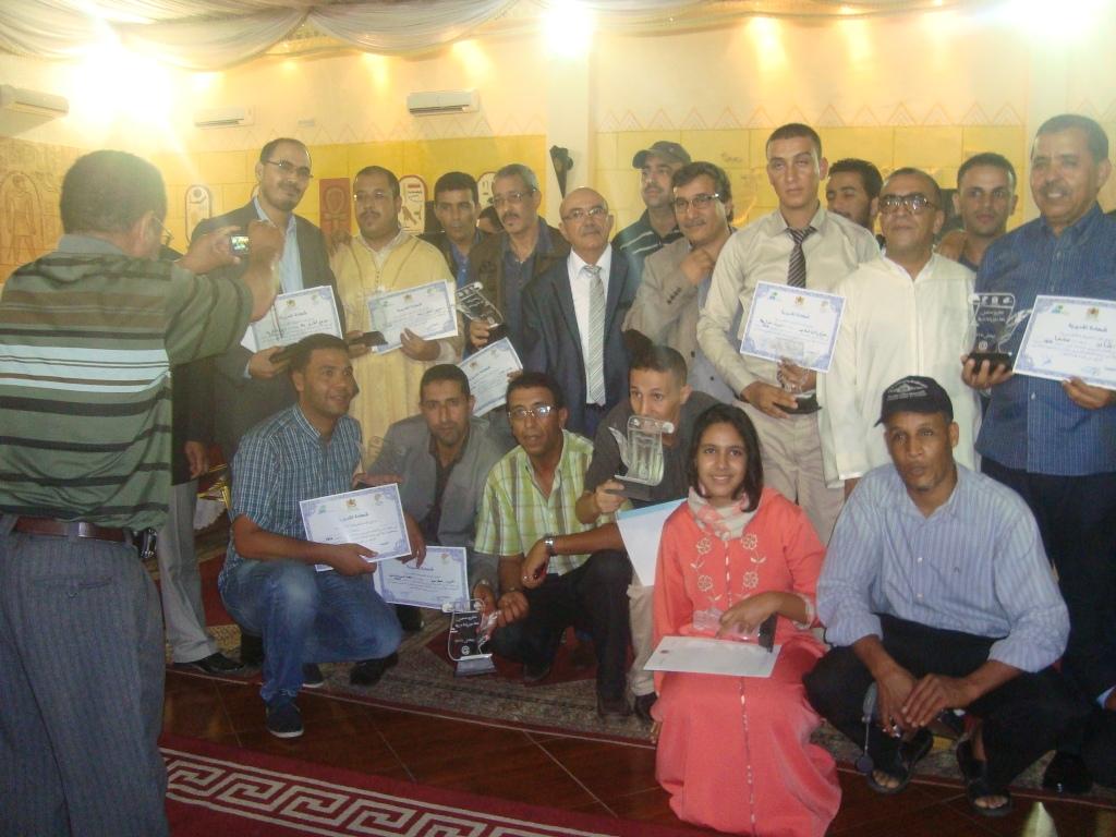 تكريم الزميلين محمد الشيخ بلا والحبيب الطلاب في حفل تكريم الصحافة الجهوية بجهة سوس ماسة درعة