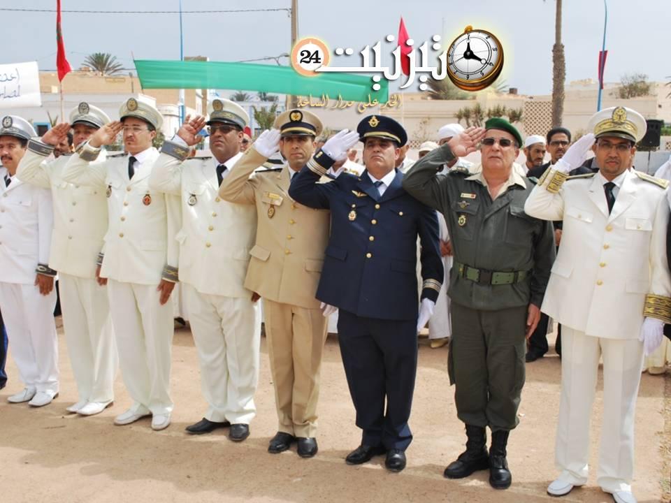 سيدي افني : مراسيم تحية العلم الوطني وحفل الانصات لخطاب العرش