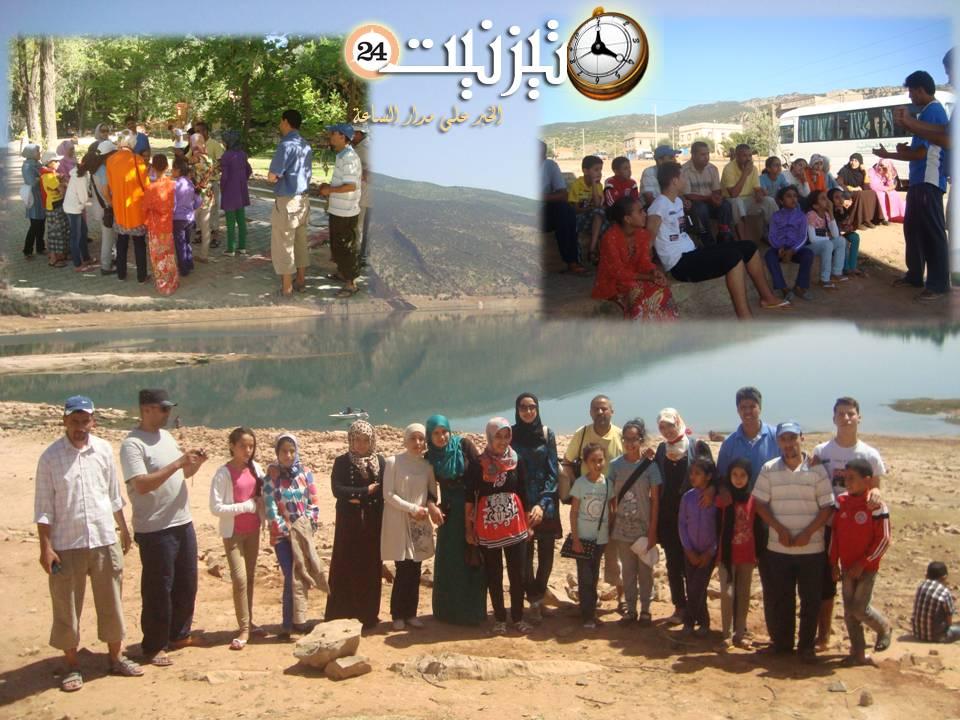 جمعية تيفاوين بسيدي إفني تنظم رحلة ترفيهية لليتامى المتفوقين إلى بني ملال وشلالات أوزود