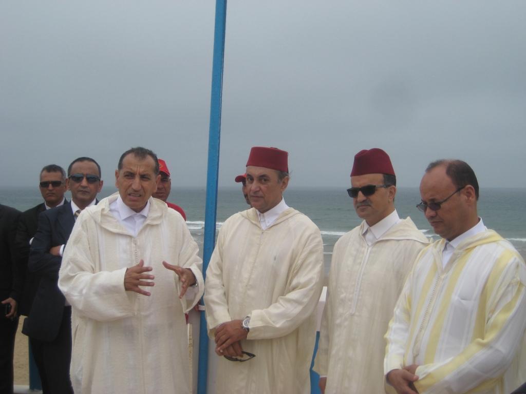 رفع اللواء الأزرق بشاطئ سيدي موسى في أكلو
