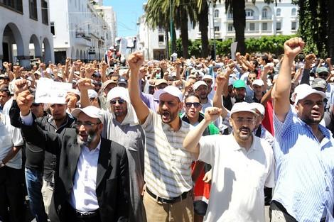 جماعة العدل والإحسان تحضر في مسيرة دعم غزة .. وتُنقِّط الصفر للحكومة