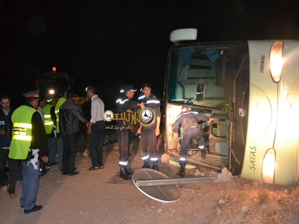 قتيلان و17 جريحا في حادث مروع ليلة أمس بتيزنيت + صور