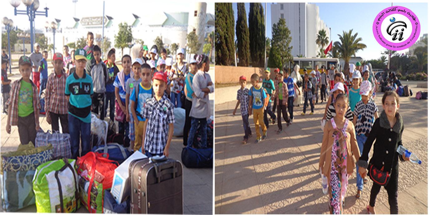 أيتام جمعية بلسم يشاركون في مخيم كشافة المغرب بأكادير
