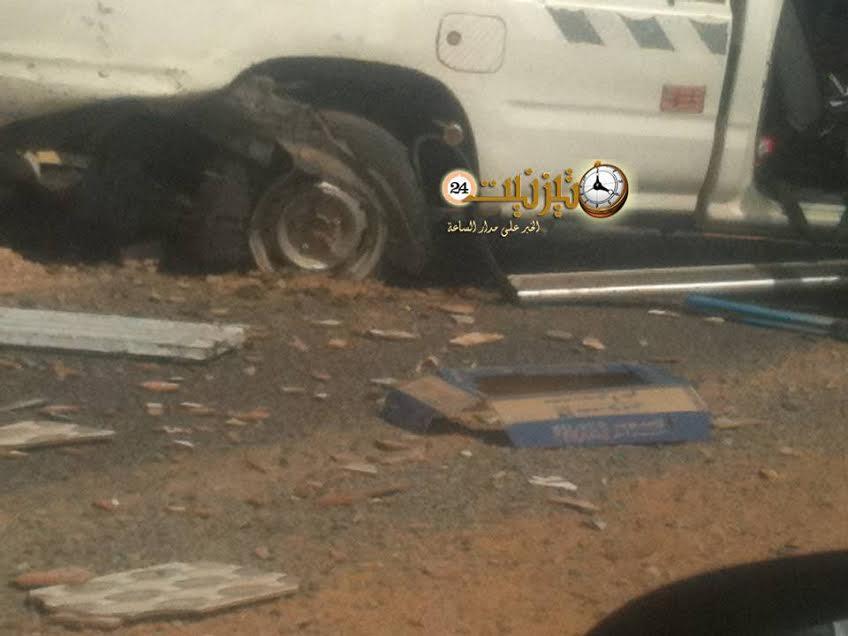انفجار عجلة مطاطية كاد يتسبب في كارثة بطريق أكلو – تيزنيت