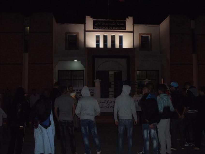 الجمعية المغربية لحقوق الإنسان تحتج بسيدي افني
