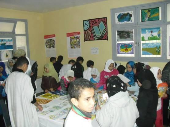 أسبوع للكتاب بثانوية محمد الجزولي بأنزي