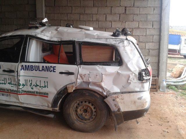 السكان يتساءلون عن مصير سيارة الإسعاف بميراللفت بعد تعرضها لحادث سير
