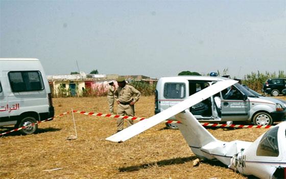 سقوط طائرة يثير حالة من الرعب في ضواحي مراكش
