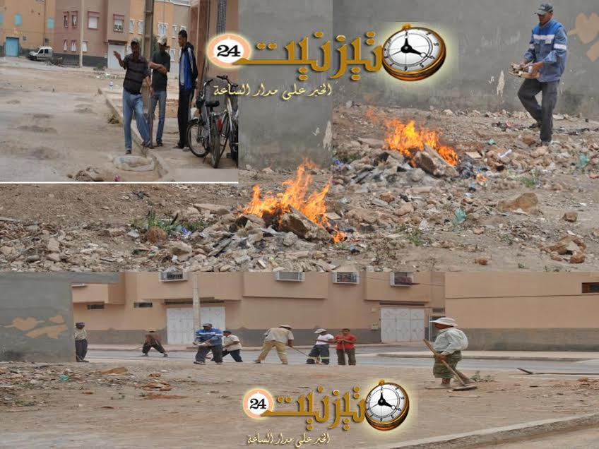 حملة النظافة بحي السلام بمدينة تيزنيت