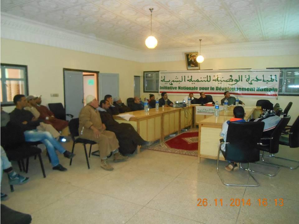 يوم تواصلي لتقديم مشاريع المبادرة الوطنية للتنمية البشرية بجماعة سيدي مبارك بالأخصاص