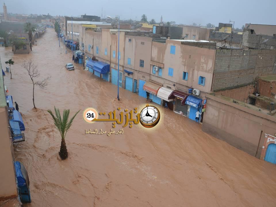 فيضانات تيزنيت تربك الحسابات وتغرق المدينة / مرفق بصور