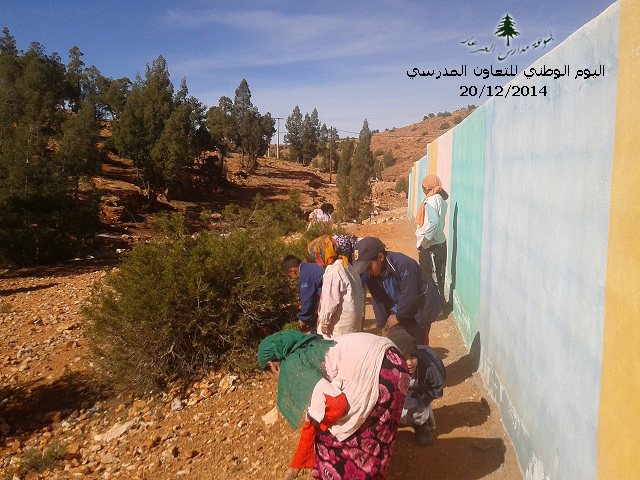أسبوع التعاون المدرسي بمجموعة مدارس العرعار بجماعة سيدي عبد الله أوبلعيد