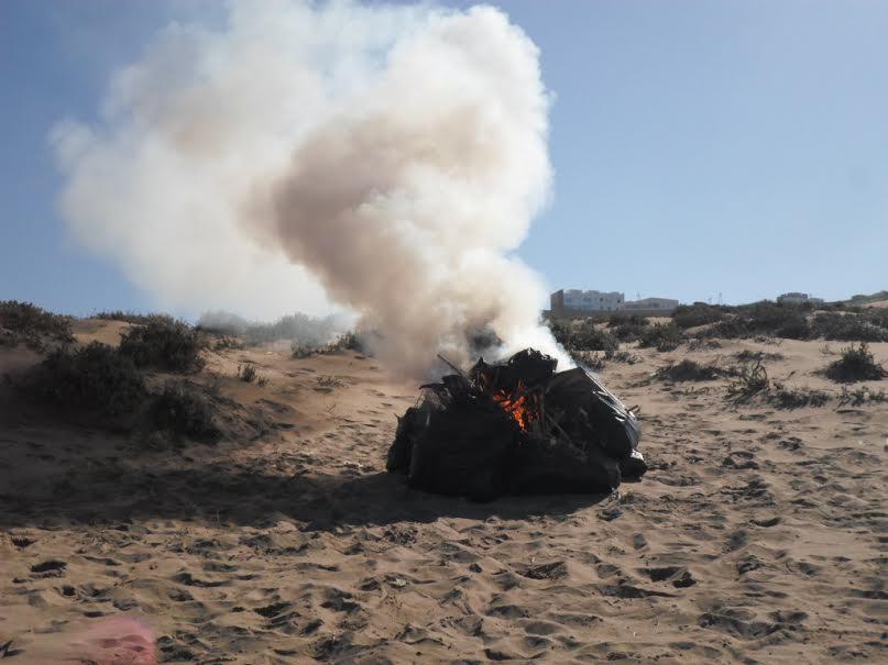 """تنظيم النسخة الثانية من المبادرة البيئية """"الساحل أولا""""من طرف جمعية أمود للنماء بأكلو"""