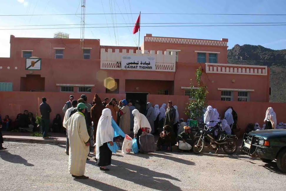 توزيع إعانات غدائية بجماعتي تيغمي و آيت إسافن