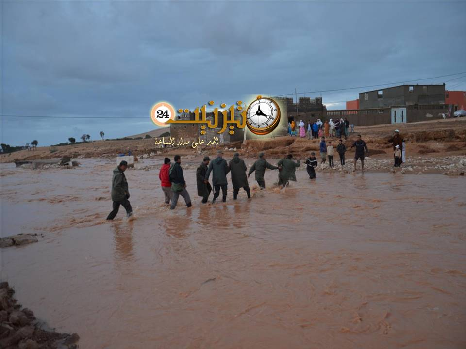 """عامل الإقليم يقف على مخلفات الفيضانات بدوار """"تيمزليت"""" و""""الدغيمس"""" بجماعة أكلو"""