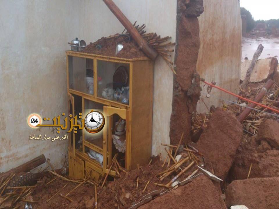 انهيار أزيد من 200 منزل طيني وتشريد العشرات من العائلات  بقبيلة أيت إعزة – تيوغزة سيدي إفني