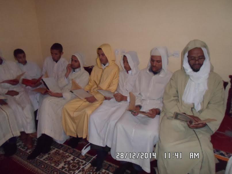 قبيلة اصبويا تحتفي بذكرى المولد النبوي الشريف بمدرسة اكجكال العتيقة