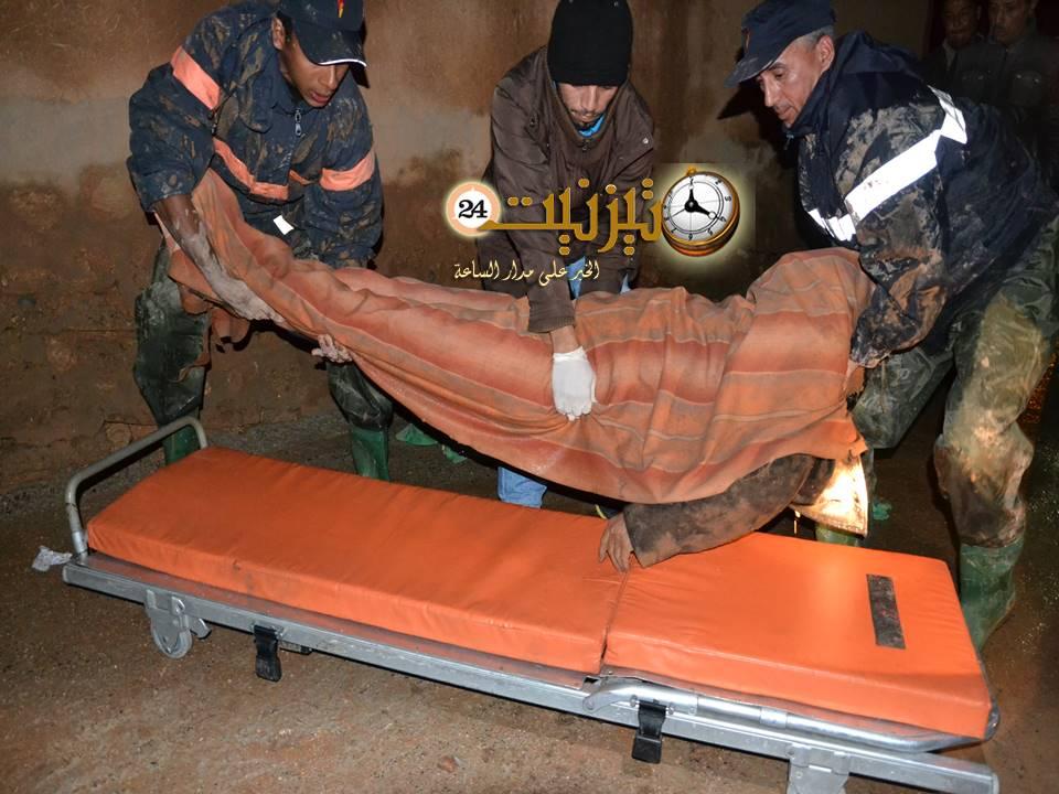 مقتل شخص في قناة لمياه الفيضانات بباب الخميس بتيزنيت / مرفق بصور