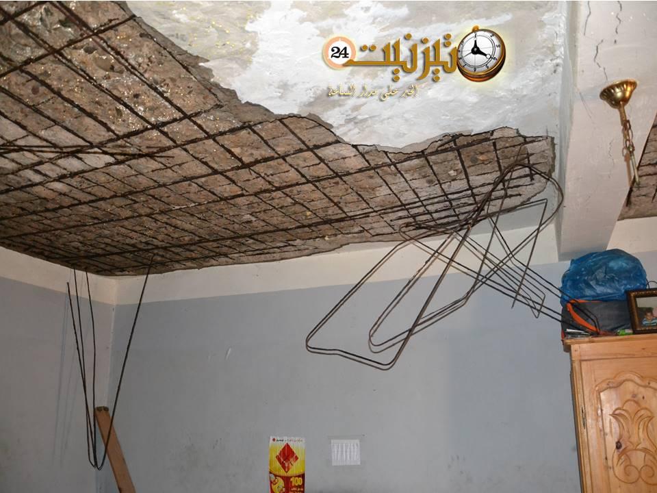 منزل مهدد بالسقوط يهدد حياة أسرة بكاملها بحي تبوديبت بتيزنيت / مرفق بصور