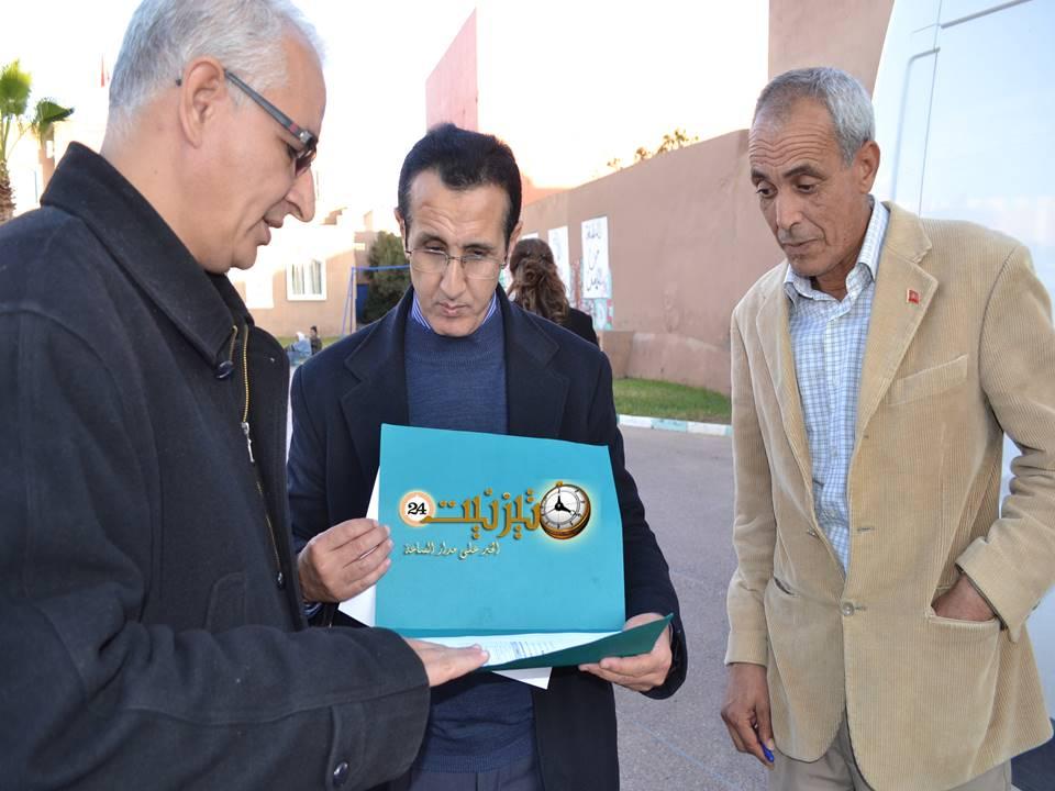 باشا تيزنيت يشرف على توزيع مساعدات إنسانية على منكوبي الفيضانات
