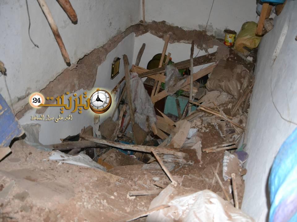 إنقاذ مسنة من تحت الأنقاض بمدينة تيزنيت
