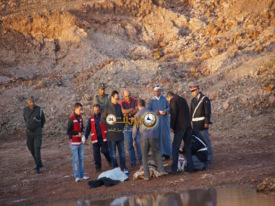 دفن جثامين التلميذين الغريقين بجماعة رسموكة