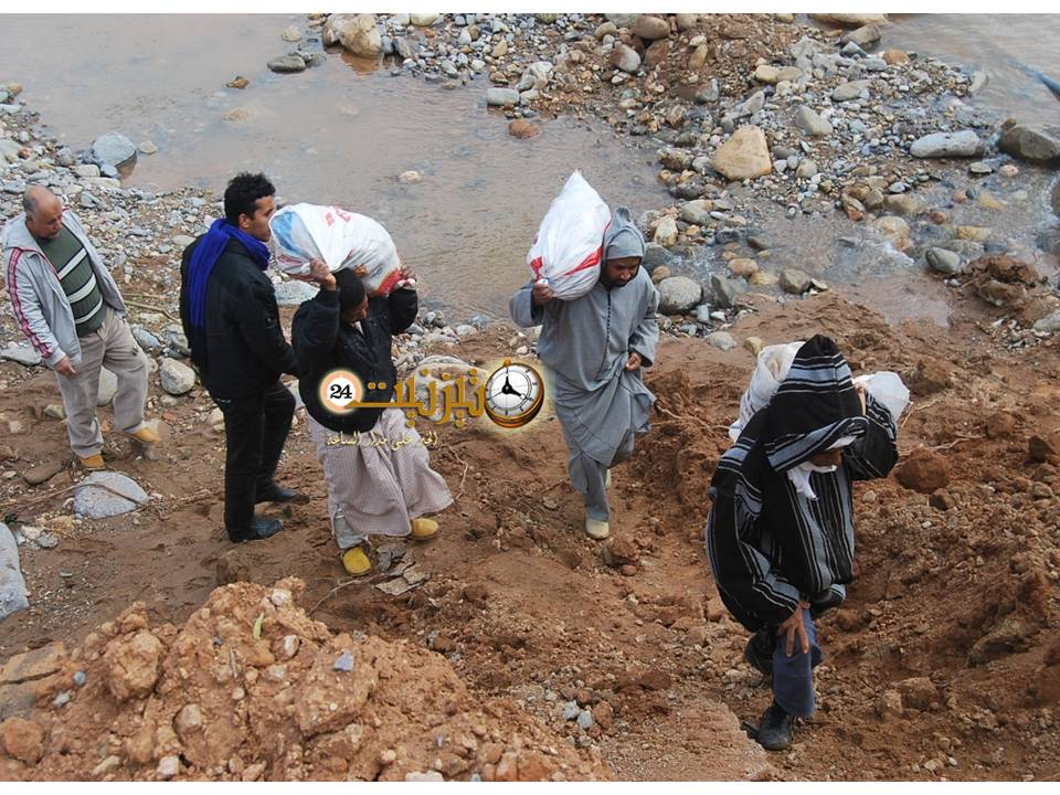 معاناة سكان تزروالت بعد الفيضان