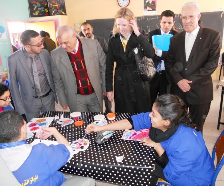 سفيرة كندا تعاين تجربة نيابة انزكان ايت ملول في مجال تمدرس وإدماج الأطفال في وضعية إعاقة