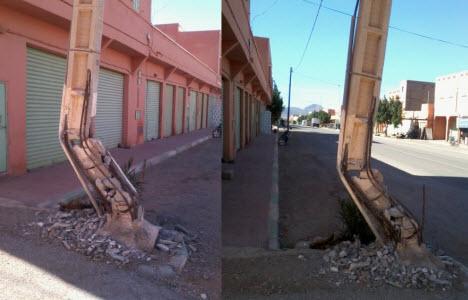 عمود كهربائي يهدد سلامة المواطنين ورواد المؤسسات التعليمية بجماعة تيغمي بتيزنيت