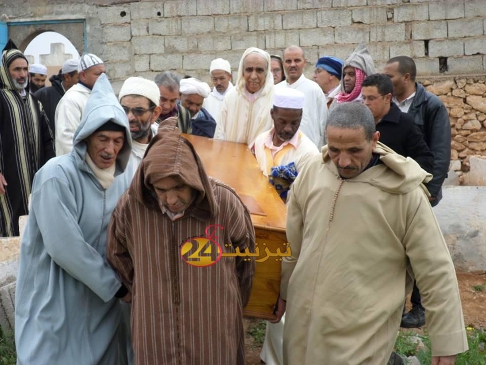 """صور جنازة اللاعب السابق لأمل تيزنيت المرحوم """"الحسين سارا"""" بتيزنيت"""