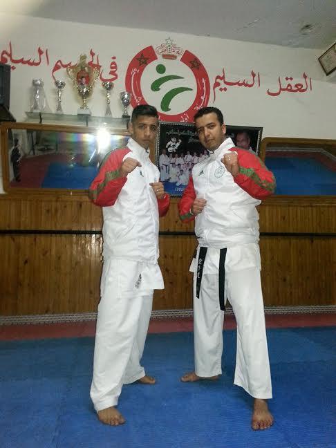 أبطال اولمبيك الدشيرة للكراطي في تدريب دولي بهولندا