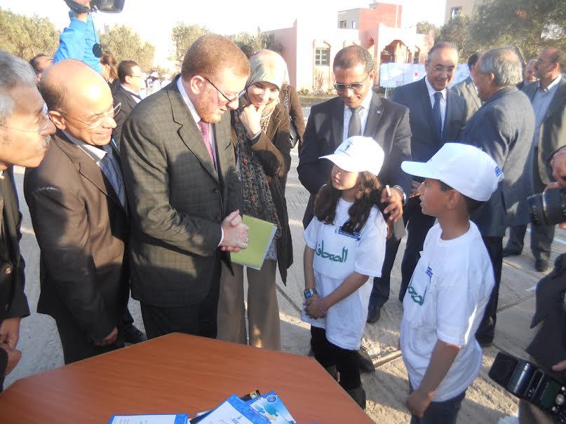 تقرير حول زيارة  الوزير المنتدب في النقل لمدرسة مولاي الزين بتيزنيت