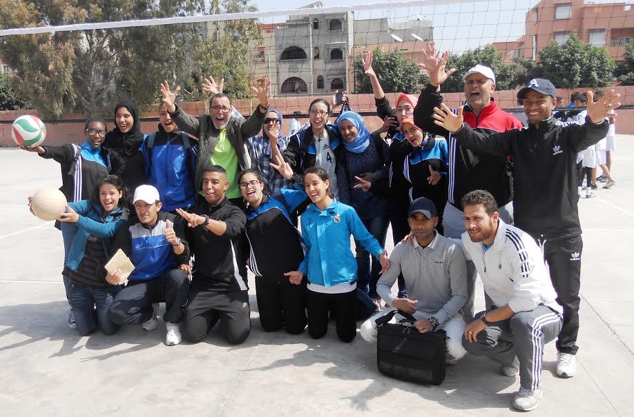 نيابة انزكان ايت ملول تنظم البطولة الجهوية للألعاب الجماعية المدرسية