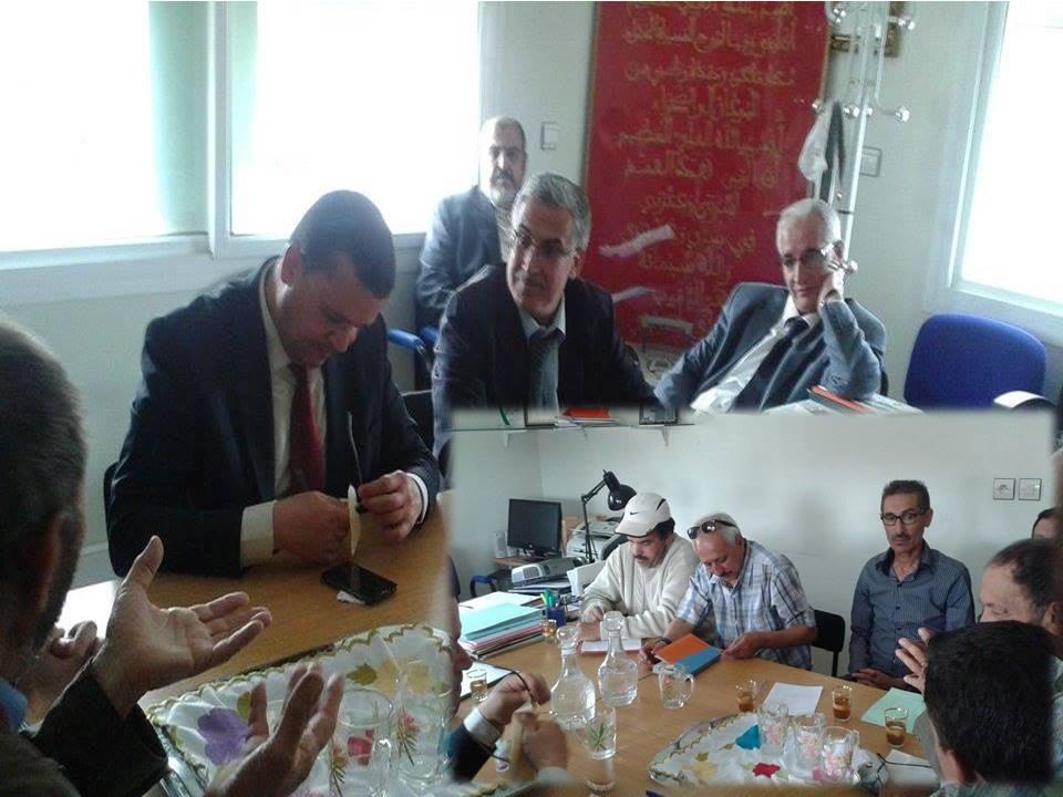 بلاغ صحفي حول زيارة المدير العام للتعاون الوطني لتيزنيت