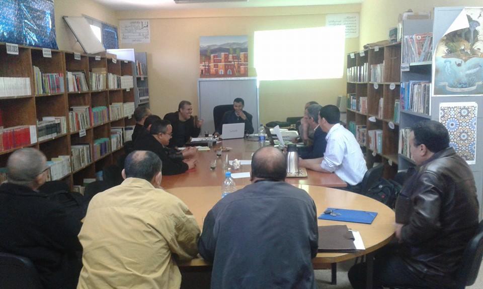 جماعة الممارسات المهنية الجزولي بنابة تيزنيتفي لقاء للتقاسم والتدقيق في شأن مشاريع مؤسساتها