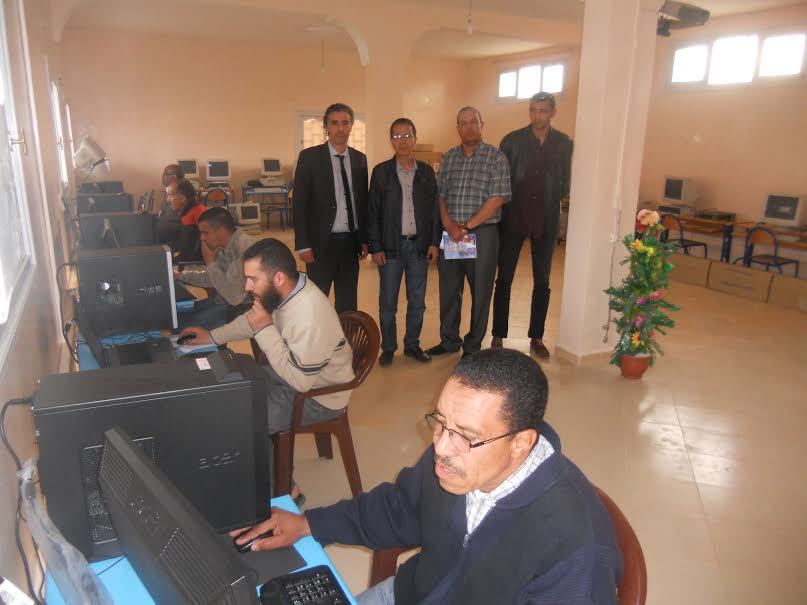 انشاء مركز جديد للاشهاد في الاعلاميات وتكنولوجيا المعلومات بمدرسة محمد الخامس بتافراوت