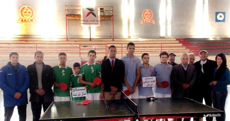 نادي أمل تيزنيت لكرة الطاولة يخلق المفاجأة بتأهله لدور النصف نهائي من البطولة الوطنية في قسمها الأول