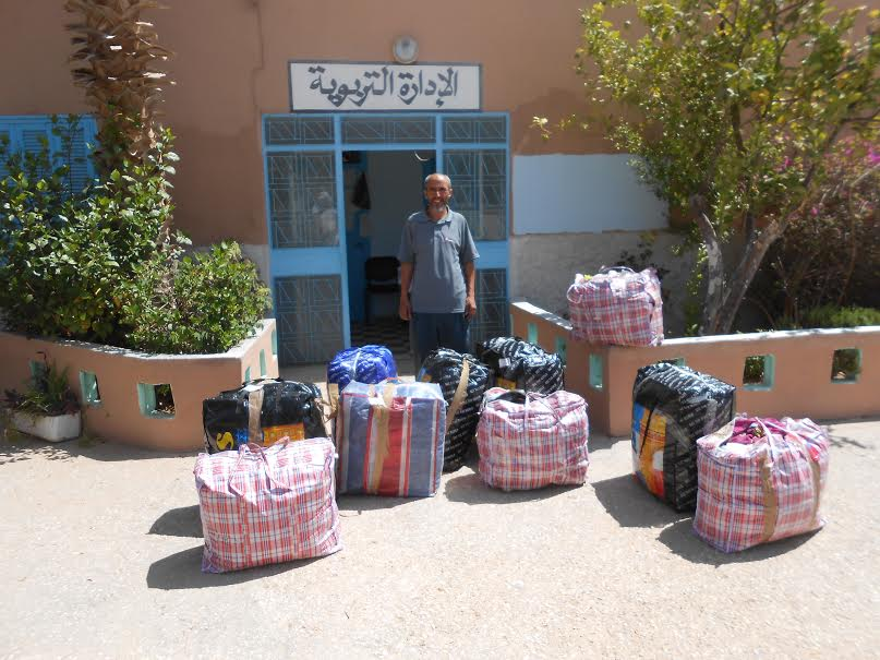 جمعية لوسوغيغ الفرنسية تقدم ملابس مستعملة لمؤسستي الإمام مالك ومدرسة الحسن الأول